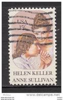 USA, Femme, Woman, Sourde Muette Aveugle, Helen Keller, Handiacps, Handicapé, Handicapped, Professeur, Teacher - Handicap