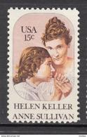 USA, MNH, Helen Keller, Sourde, Aveugle, Bling, Deaf, Femme, Woman, Anne Sullivam, Handicaps, Handicapé, Handicapped - Handicap
