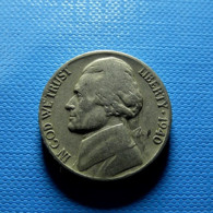 USA 5 Cents 1940 - 1938-…: Jefferson