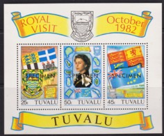 Tuvalu 1982 Royal Visit SPECIMEN Minisheet MNH - Tuvalu