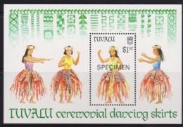 Tuvalu 1989 Ceremonial Dancing Skirts SPECIMEN Minisheet MNH - Tuvalu