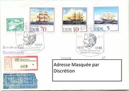 Enveloppe Recommandée - Allemagne - Ludwig Leichhardt (10-11-1988) - Storia Postale