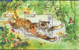 Tuvalu 1998 Year Of The Tiger SPECIMEN Minisheet MNH - Tuvalu