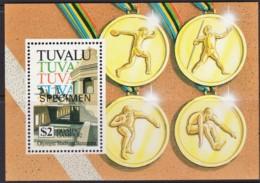 Tuvalu 1992 Olympic Games - Stadium Barcelona SPECIMEN Minisheet MNH - Tuvalu