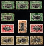 S041.-. BELGIUM CONGO. 1909 - SC#: 41-44 - MH / USED - VARIETIES, COLORS, MH, USED - 1894-1923 Mols: Ungebraucht