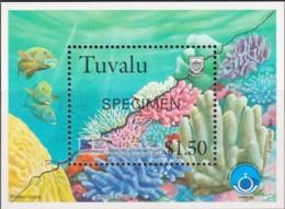 Tuvalu 1998 Greenpeace - Save Our Sease SPECIMEN Minisheet MNH - Tuvalu