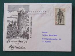 Germany Berlin 1978 Cover Kassel (clover Slogan) To Kassel - Tower - Albrecht Von Graefe - [5] Berlijn