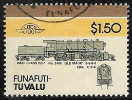 Tuvalu - Funafuti 1986 LOTW Locomotives (4th Series) $1.50 Type 1 Good/fine Used [40/32577/UD] - Tuvalu