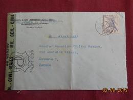 Lettre Censurée De 194... à Destination De Toronto - 1926-89 Empereur Hirohito (Ere Showa)