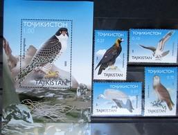 Tajikistan  2000   Fauna  Birds Of Prey 4 V + S/S  MNH - Oiseaux