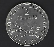 FRANCE ARGENT 2 FRANCS 1919 - Frankrijk