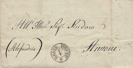 1822- Lettre De Torino - En Franchise - REGIE POSTE   V   Pour Annone  ( Ispezione Generale Delle Leve) - 1. ...-1850 Prefilatelia