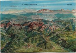 Cartina Geografica Del Gruppo Del Pasubio Con Schio, Arsiero, Rovereto, Recoaro, Tonezza, Ecc. Viaggiata 1981 - Carte Geografiche