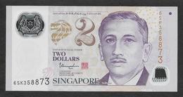 Singapore 2 Dollars Polymer 2017 UNC - Singapore