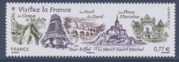 N° 4661 Visitez La France Faciale 0,77 € - France