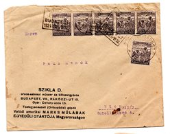 Ungarn, 1924, Briefkuvert Mit Mehrfachfrankatur (17494E) - Hungary