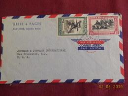 Lettre De 1958 à Destination Des USA - Costa Rica