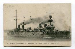 CPA  Bateau : Le MARSEILLAISE    Croiseur Cuirassé    A  VOIR  !!!!!!! - Guerra