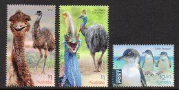 AUSTRALIA, 2019 FLIGHTLESS BIRDS 3 MNH - 2010-... Elizabeth II