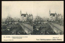 Antwerpen Anvers L'embarcadère Flottant Et Le Steen Musée D'antiquités Le Deley Vues Stéréoscopiques Julien Damoy - Antwerpen