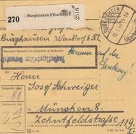 BiZone Paketkarte 1949: Burghausen Nach München, Inhalt - Auf Der Sendung !!! - Zone AAS