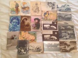 Lot De 20 Cartes Cochons Et Autres - Ansichtskarten