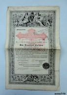 Österreichische Staatsschuldverschreibung 1868, 100 Gulden -  Emprunt D'Etat Autrichien Avec Coupons, 100 Florins, - Aandelen