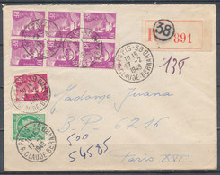 FRANCE - 17.2.1949, Reco Cover From PARIS 38 To PARIS 16 - 1921-1960: Modern Period