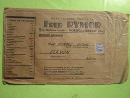 ACCORDEONS MAUGEIN à TULLE (19) Fred RYMOR à BOURG-en-BRESE (01) Timbre Préoblitéré Type Coq 008 Ct, Enveloppe Publicité - Vorausentwertungen