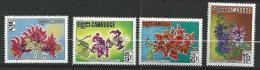 "Cambodge YT 264 à 267 "" Fleurs "" 1971 Neuf** - Cambodge"