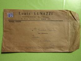 ACCORDEONS MAUGEIN à TULLE (19) Louis LUNAZZI à Paris (XIè) Timbre Préoblitéré Type Coq 008 Ct, Enveloppe Publicité - Vorausentwertungen