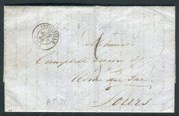 Lettre Avec Texte De Ingouville Pour Tours En 1840 - Réf AT 91 - Postmark Collection (Covers)