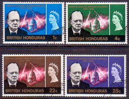 British Honduras 1966 SG #226-29 Compl.set Used Churchill Commemoration - British Honduras (...-1970)