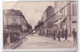 """Villeneuve Saint Georges (94)  L""""Avenue Carnot - Inondations De Janvier 1910 - Villeneuve Saint Georges"""