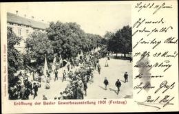 Cp Bâle Basel Stadt Schweiz, Eröffnung Der Gewerbeausstellung 1901, Festzug - BS Basel-Stadt