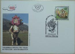FDC Nr 204 Autriche Osterreich Zell Im Zillertal 4.10.1991 (Vache, Bovin) - Vaches