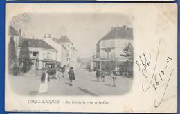 LONS-le-SAUNIER     Rue Gambetta Prise De La Gare      Animées     écrite En 1903 - Lons Le Saunier