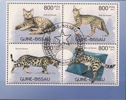 Guinea Bissau 2012 Yv. 4306/4309 Felini: GATTI Chats CATS Gatos De Savana Sheet Perf. CTO - Guinea-Bissau