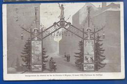 NOGENT   Inauguration Du Chemin De Fer De Foulain à Nogent 13 Mars 1904  Animées    écrite En 1904 - Nogent-en-Bassigny