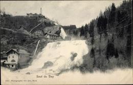 Cp Saut Du Day Vallorbe Kt. Waadt Schweiz, Blick Auf Den Wasserfall - VD Vaud