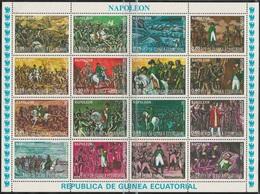 1977Guinea Equatorial 1165-1180KLHorses / Napoleon - Horses