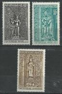 "Khmere YT 332 à 334 "" Fresques "" 1973 Neuf** - Cambodge"