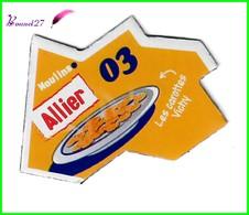 """Magnet LE GAULOIS Département Français Nouvelle Région """" 03 Allier  """"  Moulins  Les Carottes Vichy - Magnets"""