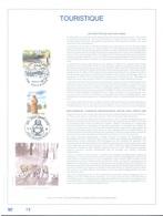 BELGIUM - 8.6.1996 - FEUILLET ART OR 23 CARATS - TOURISM - COB 2640-2641 - Lot 20045 - RARE ONLY 500 Ex.! - Feuillets