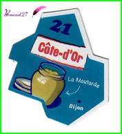 """Magnet LE GAULOIS Département Français Nouvelle Région """" 21 Côte D'Or """"  Dijon La Moutarde - Magnets"""