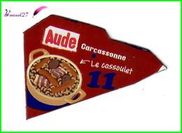 """Magnet LE GAULOIS Département Français Nouvelle Région """" 11 Aude """"  Carcassonne Le Cassoulet - Magnets"""