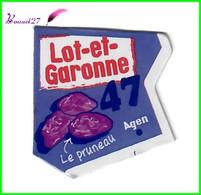 """Magnet LE GAULOIS Département Français Nouvelle Région """" 47 Lot Et Garonne """"  Agen Le Pruneaux - Magnets"""