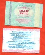 Kazakhstan 2019. City Karaganda. July Is A General Ticket - A Monthly Bus.  Plastic. - Season Ticket