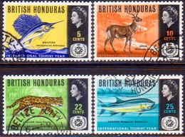 British Honduras 1967 SG #246-49 Compl.set Used Int. Tourist Year - British Honduras (...-1970)