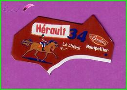 """Magnet LE GAULOIS Département Français Nouvelle Région """" 34 Hérault """" Montpellier Le Cheval - Magnets"""